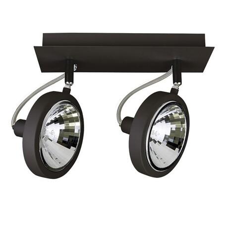 Потолочный светильник Lightstar Varieta 9 210327, 2xG9x40W, черный, металл