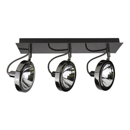 Потолочный светильник с регулировкой направления света Lightstar Varieta 9 210338, 3xG9x40W, черный хром, металл