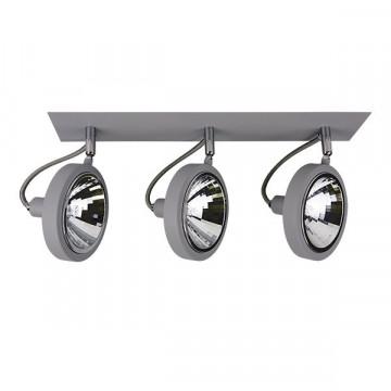 Потолочный светильник с регулировкой направления света Lightstar Varieta 9 210339, 3xG9x40W, серый, металл