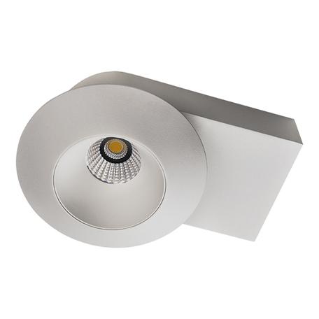 Потолочный светодиодный светильник с регулировкой направления света Lightstar Orbe 051216, LED 15W 4000K 1240lm, белый, металл