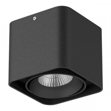 Потолочный светодиодный светильник Lightstar Monocco 052117, IP65, LED 10W 4000K 600lm, черный, металл