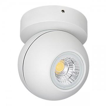 Потолочный светодиодный светильник с регулировкой направления света Lightstar Globo 051006, IP65, 3000K (теплый), белый, прозрачный, металл, стекло