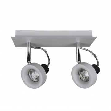Потолочный светильник с регулировкой направления света Lightstar Varieta 16 210129, 2xGU10x50W, серый, металл