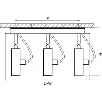 Схема с размерами Lightstar 210338