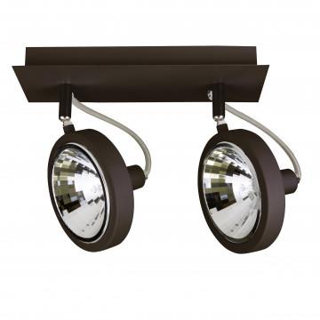 Потолочный светильник с регулировкой направления света Lightstar Varieta 9 210327, 2xG9x40W, черный, металл
