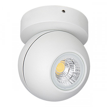 Потолочный светодиодный светильник с регулировкой направления света Lightstar Globo 051006, IP65, LED 8W 3000K 730lm, белый, металл