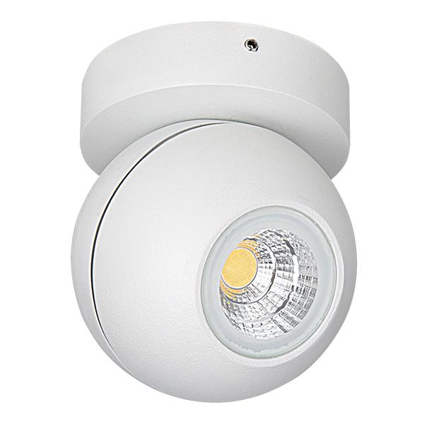 Потолочный светодиодный светильник с регулировкой направления света Lightstar Globo 051006, IP65, LED 8W 3000K 730lm, белый, металл - фото 1
