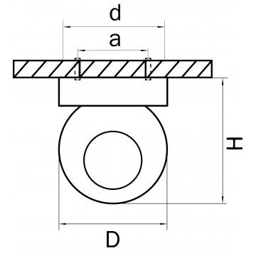 Схема с размерами Lightstar 051006