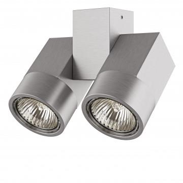Потолочный светильник с регулировкой направления света Lightstar Illumo X2 051039, 2xGU10x50W, матовый хром, металл