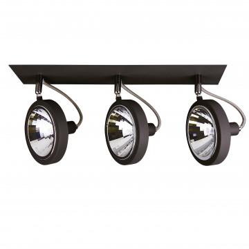 Потолочный светильник с регулировкой направления света Lightstar Varieta 9 210337, 3xG9x40W, черный, металл