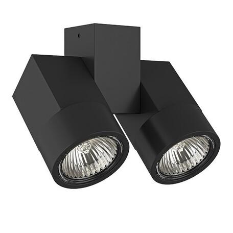Потолочный светильник с регулировкой направления света Lightstar Illumo X2 051037, 2xGU10x50W, черный, металл