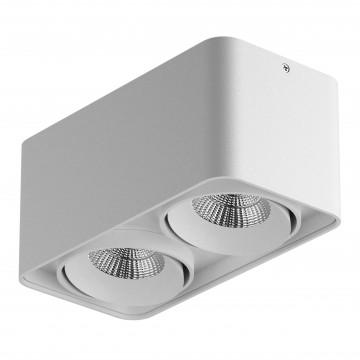 Потолочный светодиодный светильник Lightstar Monocco 052126, IP65, LED 20W 4000K 1200lm, белый, металл
