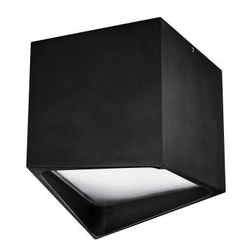 Потолочный светодиодный светильник Lightstar Quadro 214477, IP55, LED 12W 4000K 960lm, черный, металл