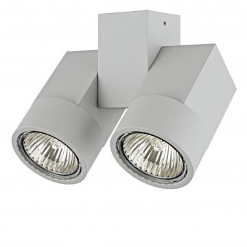 Потолочный светильник с регулировкой направления света Lightstar Illumo X2 051030, 2xGU10x50W, серый, металл