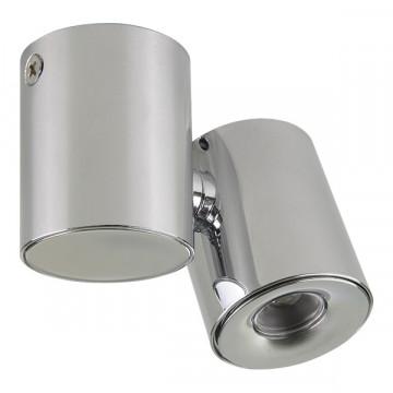 Потолочный светодиодный светильник с регулировкой направления света Lightstar Punto 051124, IP40, LED 3W 4000K 190lm, хром, металл