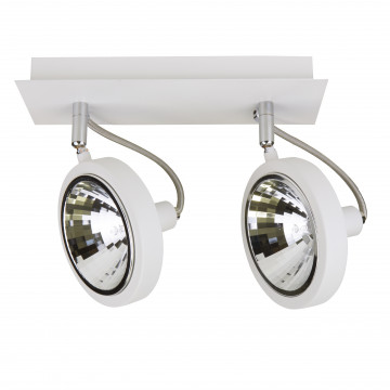 Потолочный светильник с регулировкой направления света Lightstar Varieta 9 210326, 2xG9x40W, белый, металл