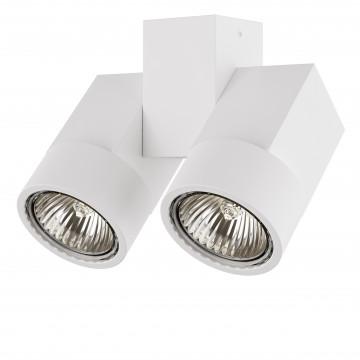 Потолочный светильник с регулировкой направления света Lightstar Illumo X2 051036, 2xGU10x50W, белый, металл