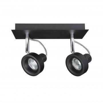 Потолочный светильник с регулировкой направления света Lightstar Varieta 16 210127, 2xGU10x50W, черный, металл