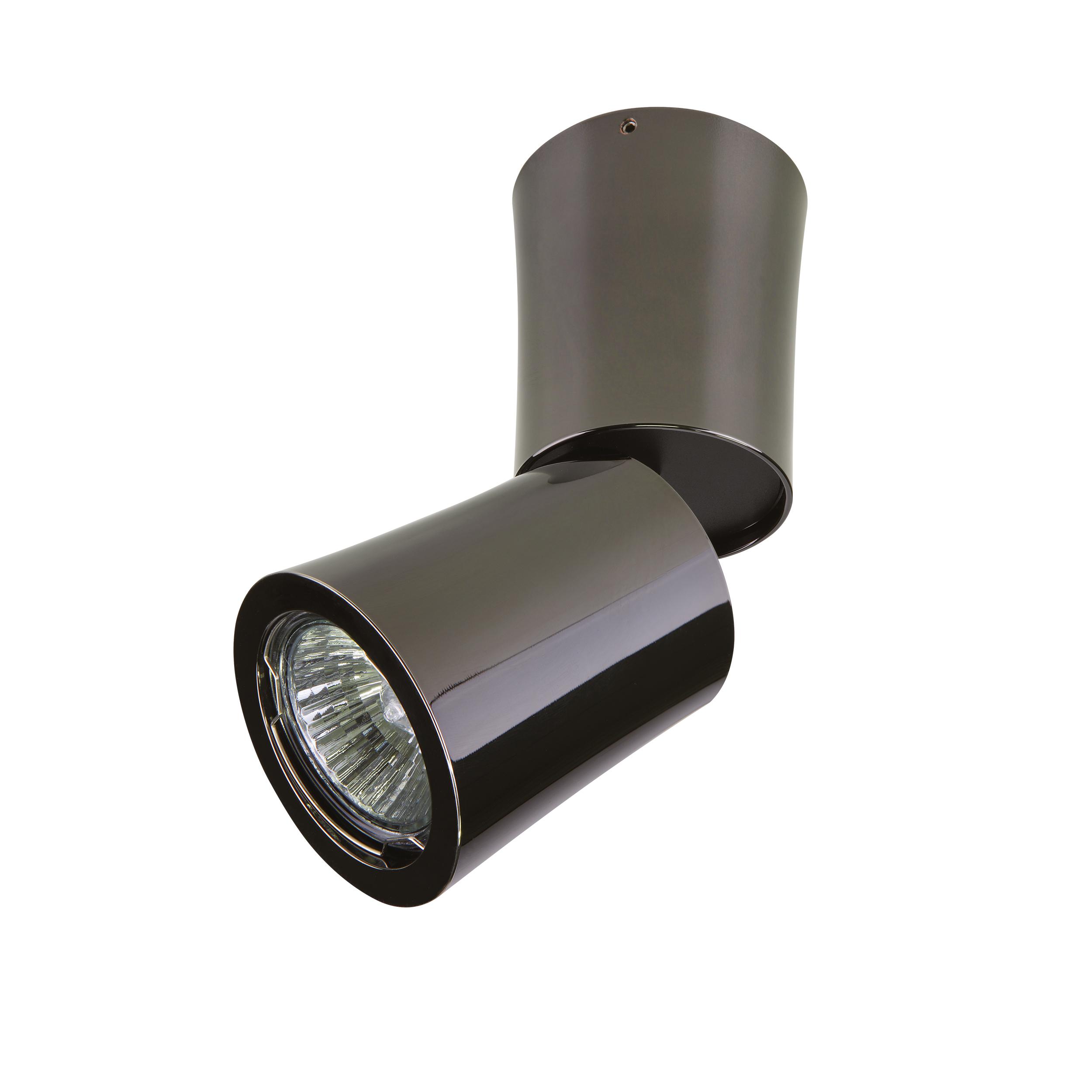 Потолочный светильник с регулировкой направления света Lightstar Rotonda 214458, 1xGU10x50W, черный хром, металл - фото 1
