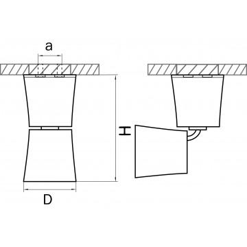 Схема с размерами Lightstar 214458