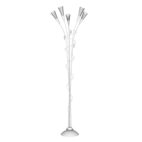 Торшер Lightstar Aereo 711750, 5xG9x25W, белый, прозрачный, металл, стекло, хрусталь