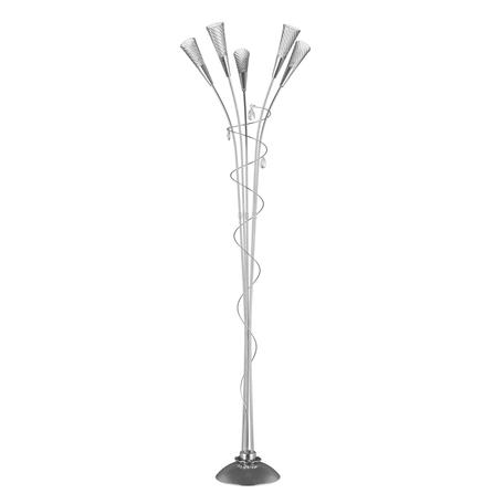 Торшер Lightstar Aereo 711759, 5xG9x25W, серебро, прозрачный, металл, стекло, хрусталь