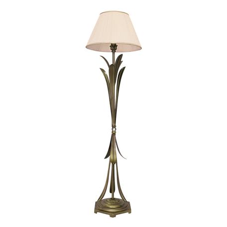 Торшер Lightstar Antique 783711, 1xE27x40W, бронза, бежевый, металл с хрусталем, текстиль