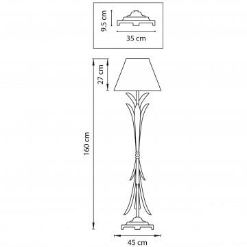 Схема с размерами Lightstar 783711