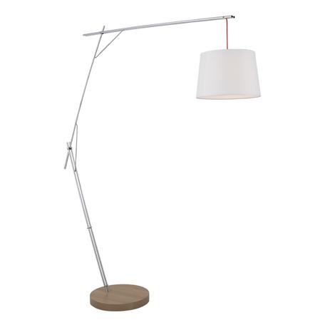 Торшер Lightstar Sesso 808710, 1xE27x40W, коричневый, хром, белый, металл, текстиль