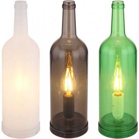 Настольная лампа-ночник Globo Levito 28048-12, 1xE14x7W, белый, коричневый, зеленый, пластик