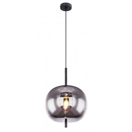 Подвесной светильник Globo Blacky 15345H1, 1xE27x60W, черный, дымчатый, металл, стекло