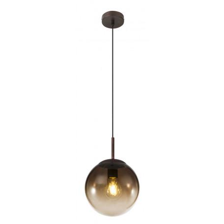 Подвесной светильник Globo Varus 15865, 1xE27x40W, коричневый, янтарь, металл, стекло