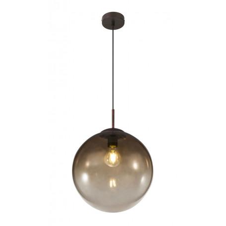 Подвесной светильник Globo Varus 15867, 1xE27x40W, коричневый, янтарь, металл, стекло
