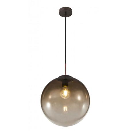Подвесной светильник Globo Varus 15868, 1xE27x40W, коричневый, янтарь, металл, стекло
