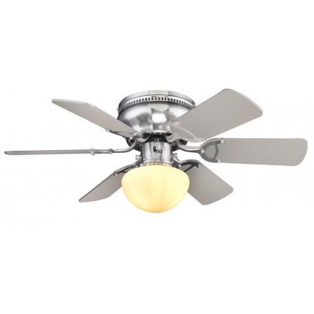 Потолочный светильник Globo Ugo 0307WE, 1xE27x60W, никель, белый, коричневый, металл, стекло