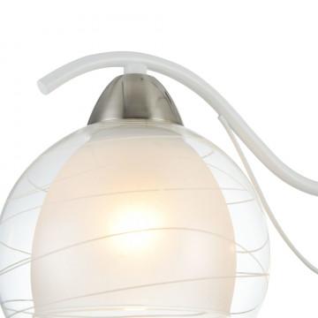 Потолочная люстра Freya Nikki FR5052-CL-03-W, 3xE14x60W, белый с никелем, белый с прозрачным, прозрачный с белым, металл, стекло - миниатюра 7