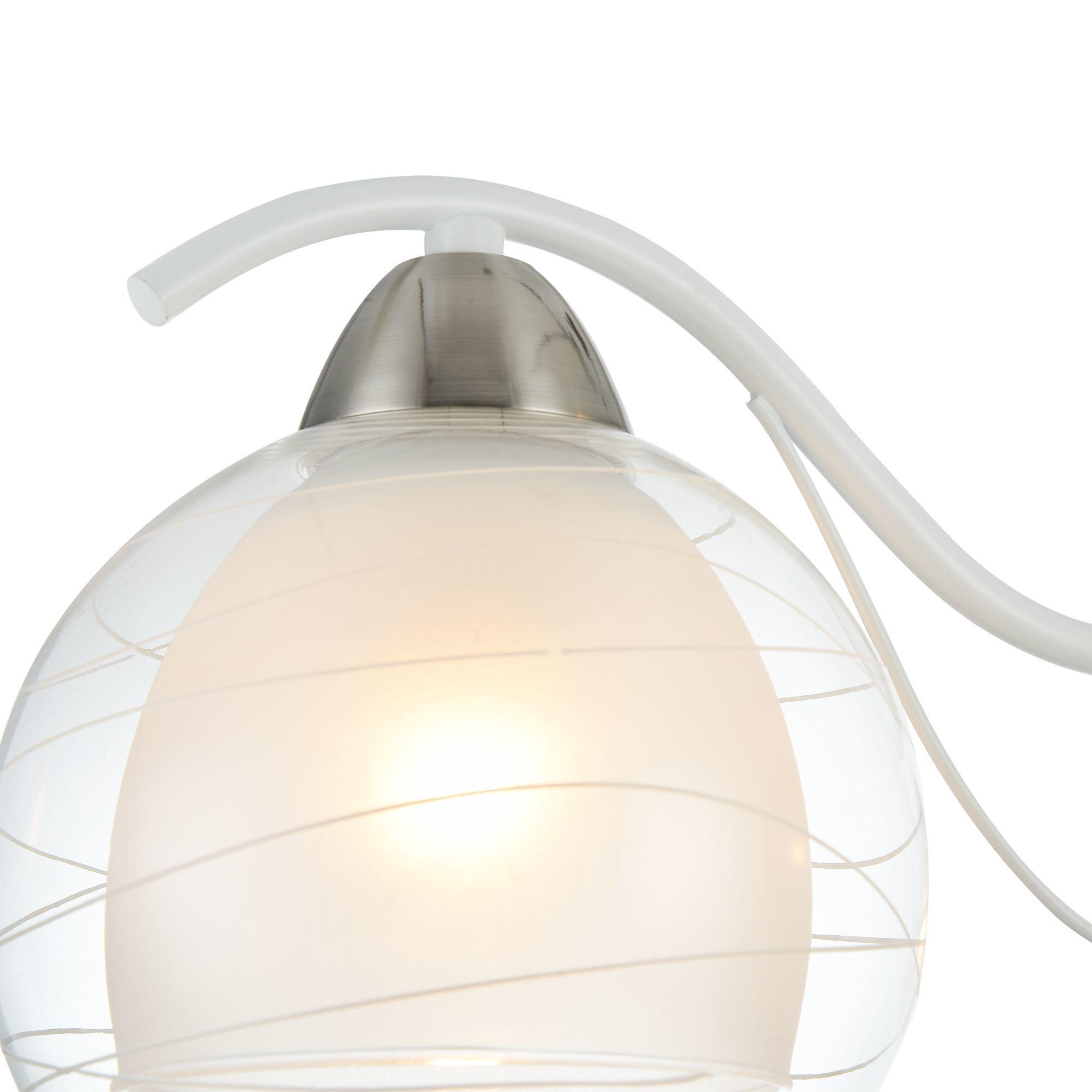 Потолочная люстра Freya Nikki FR5052-CL-03-W, 3xE14x60W, белый с никелем, белый с прозрачным, прозрачный с белым, металл, стекло - фото 7