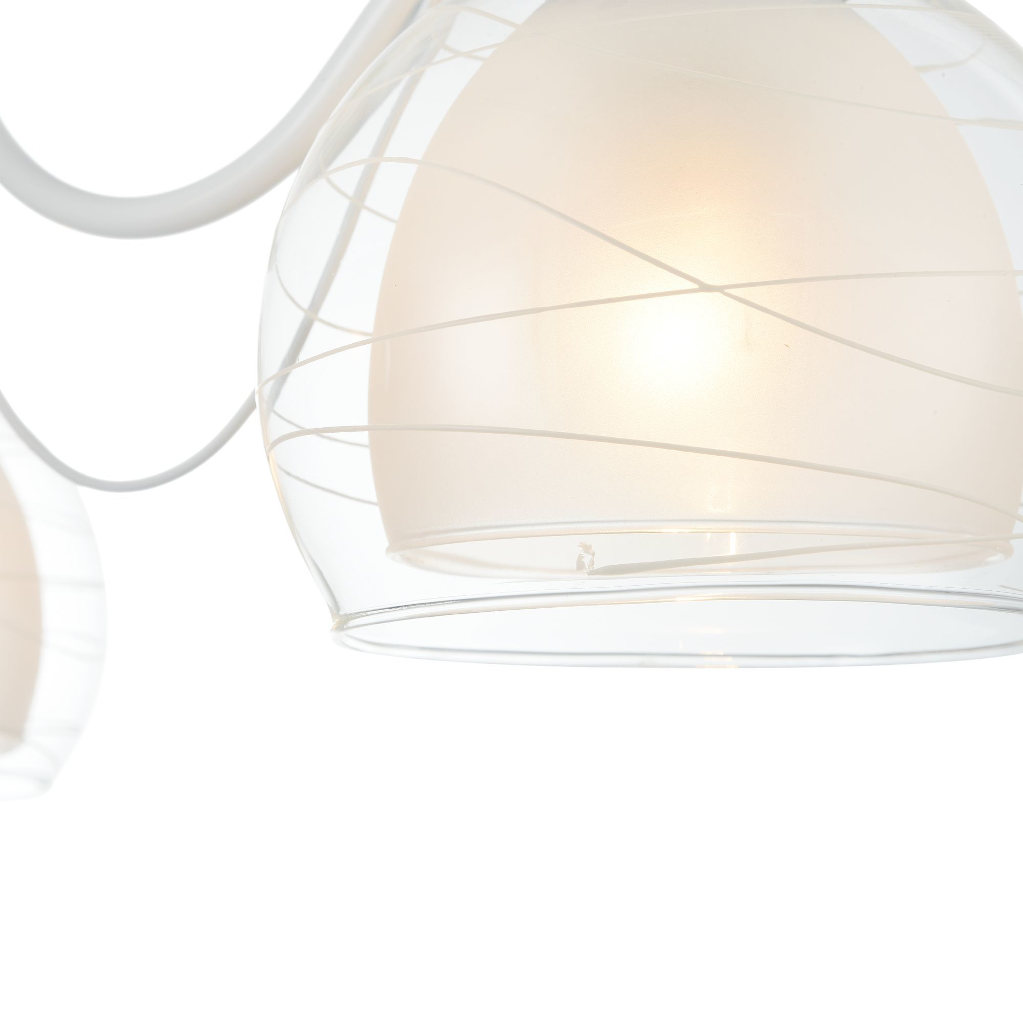 Потолочная люстра Freya Nikki FR5052-CL-03-W, 3xE14x60W, белый с никелем, белый с прозрачным, прозрачный с белым, металл, стекло - фото 8