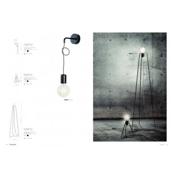 Бра Nowodvorski Simple 6973, 1xE27x60W, черный, металл - миниатюра 6