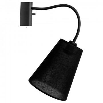 Бра Nowodvorski Flex Shade 9758, 1xE27x60W, черный, металл, текстиль