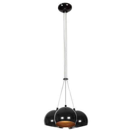 Подвесная люстра Nowodvorski Ball 6587, 3xGU10x35W, черный, золото, металл