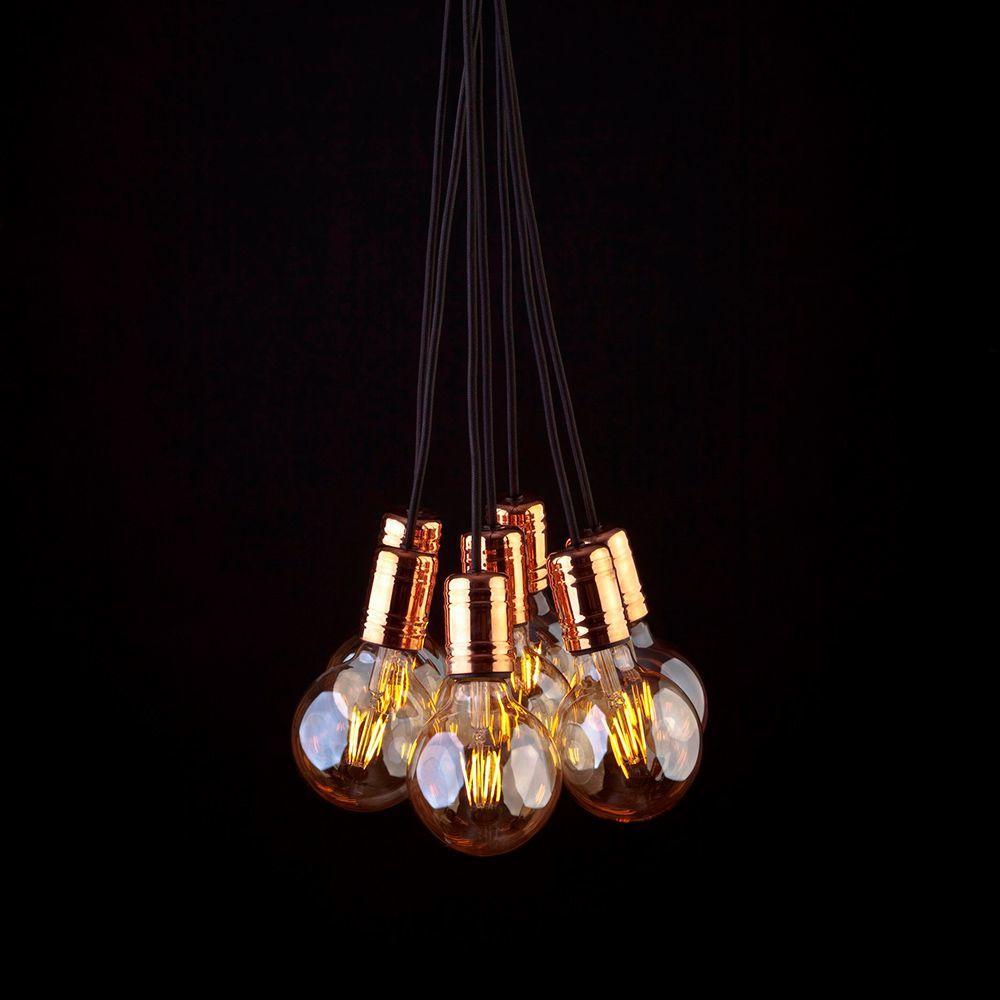 Подвесная люстра Nowodvorski Cable Black-Copper 9746, 7xE27x60W, медь, черный, металл - фото 1
