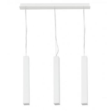 Подвесной светильник Nowodvorski Bryce 6478, 3xGU10x35W, белый, металл, стекло