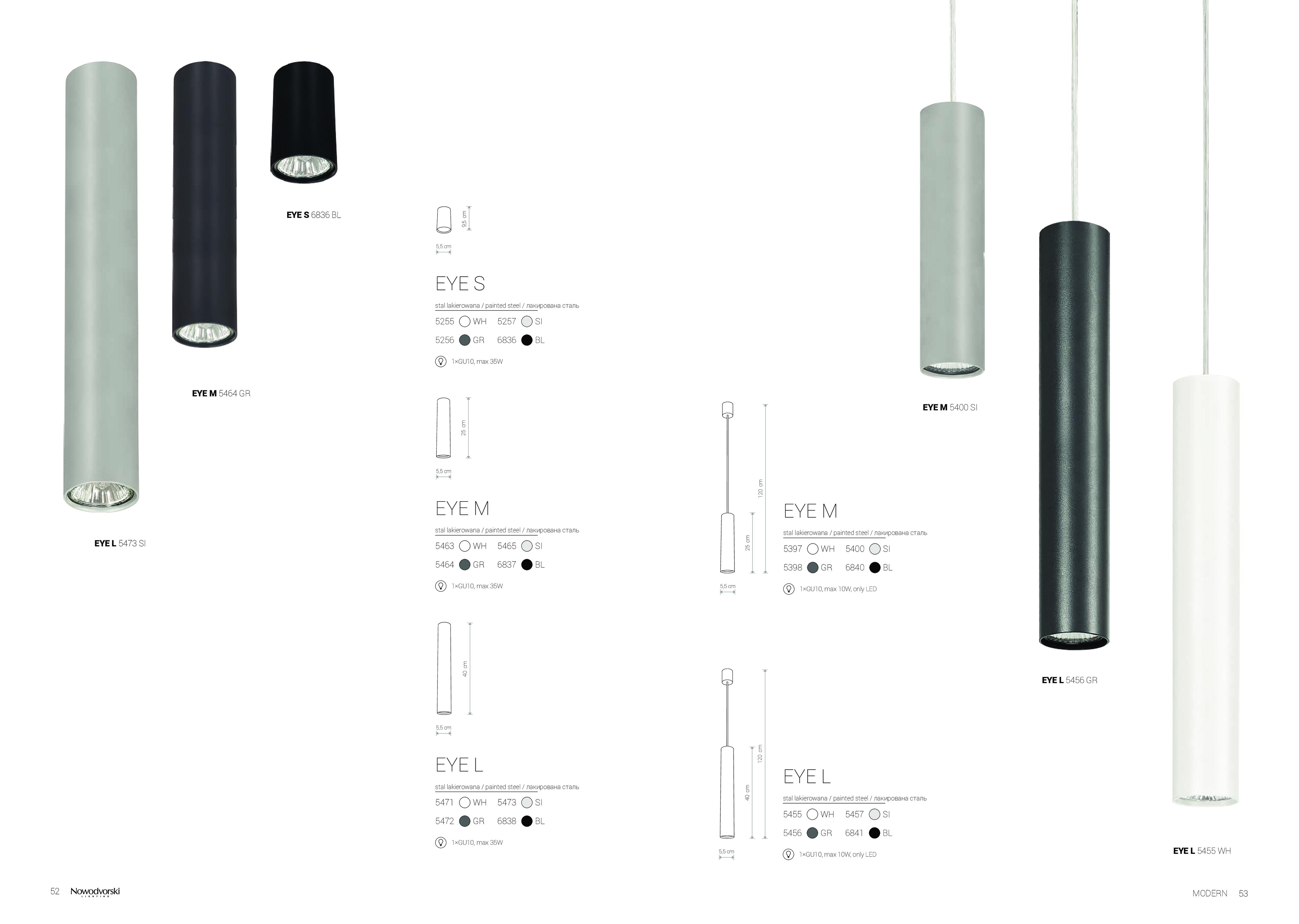 Подвесной светильник Nowodvorski Eye L 6841, 1xGU10x35W, черный, металл - фото 5
