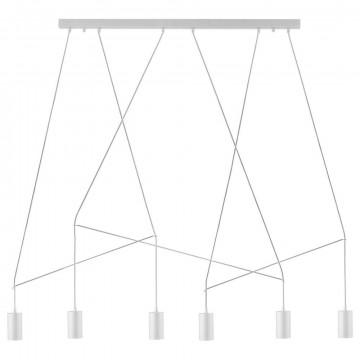 Подвесной светильник Nowodvorski Imbria 9674, 6xGU10x35W, белый, металл