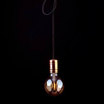 Подвесной светильник Nowodvorski Cable Black-Copper 9747, 1xE27x60W, медь, черный, металл