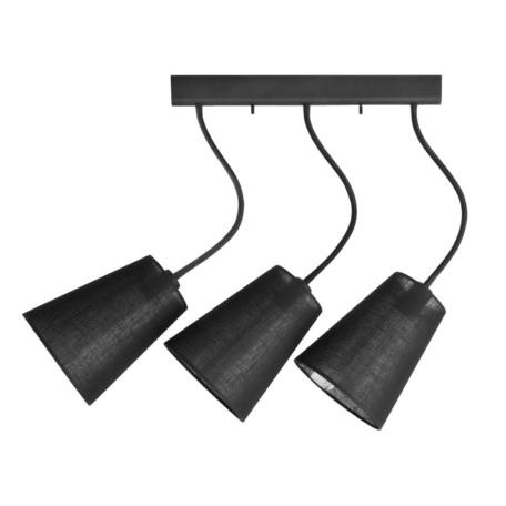 Потолочный светильник Nowodvorski Flex Shade 9757, 3xE27x60W, черный, металл, текстиль
