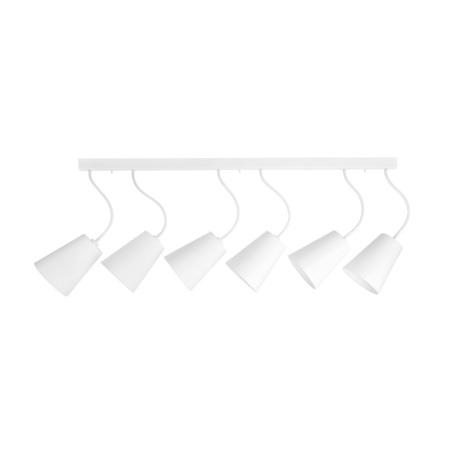 Потолочный светильник Nowodvorski Flex Shade 9761, 6xE27x60W, белый, металл, текстиль