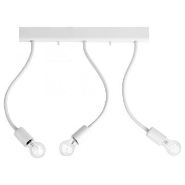 Потолочный светильник с регулировкой направления света Nowodvorski Flex 9773, 3xE27x60W, белый, металл, пластик - миниатюра 1