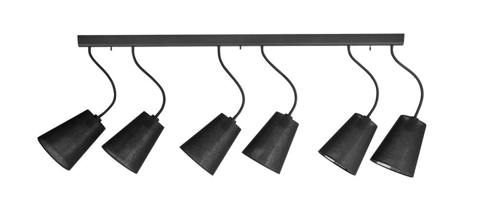 Потолочный светильник с регулировкой направления света Nowodvorski Flex Shade 9755, 6xE27x60W, черный, металл, текстиль - фото 1